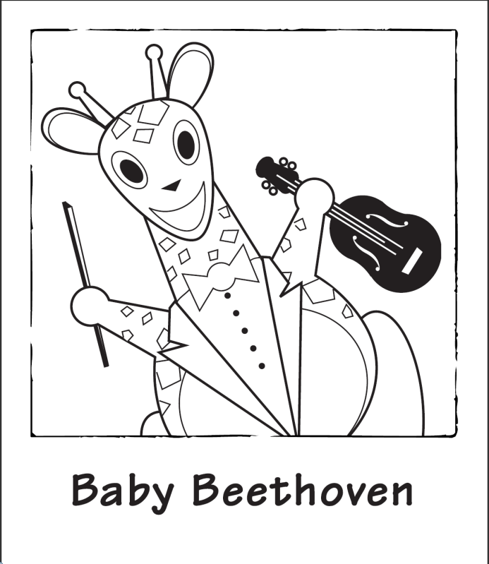 Baby Beethoven Colouring Pages