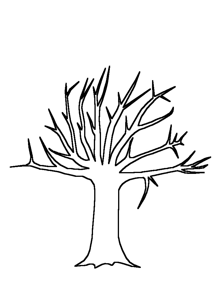 Printable Tree Template AZ Coloring Pages