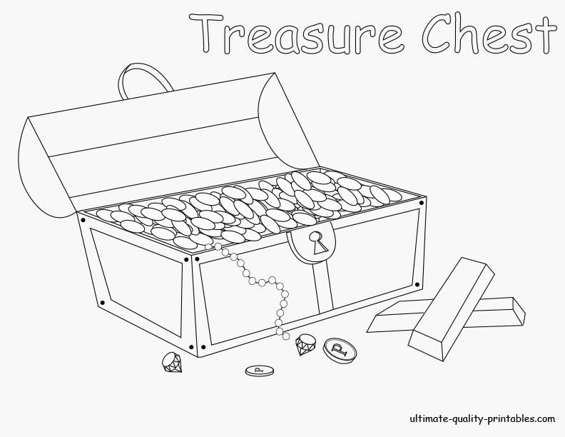 Treasure chest coloring page coloring home for Treasure chest coloring pages printable