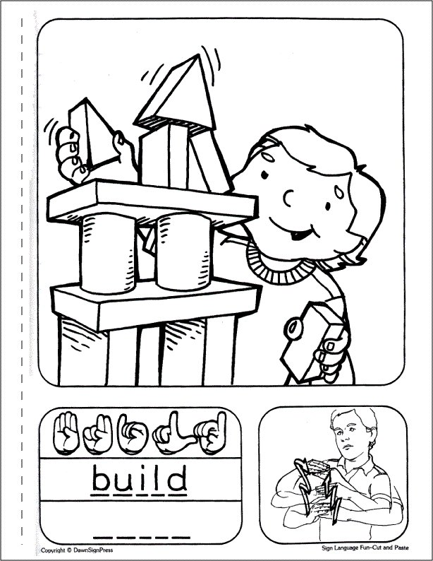 asl coloring pages - photo#17
