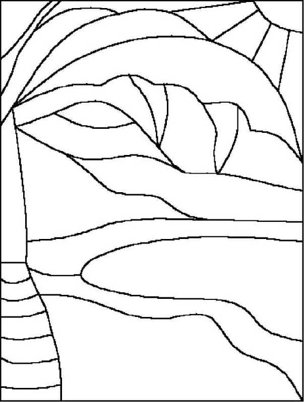 Stained Glass Window Template - AZ Coloring Pages