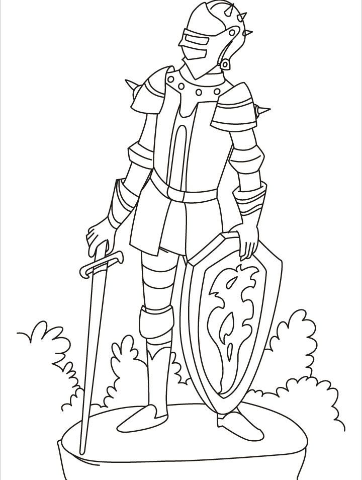 printable knight coloring pages - photo#28