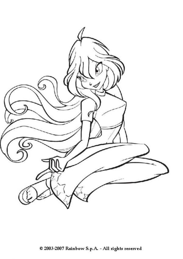 BLOOM Coloring Pages Bloom The Leader Of The Winx Club Coloring Home
