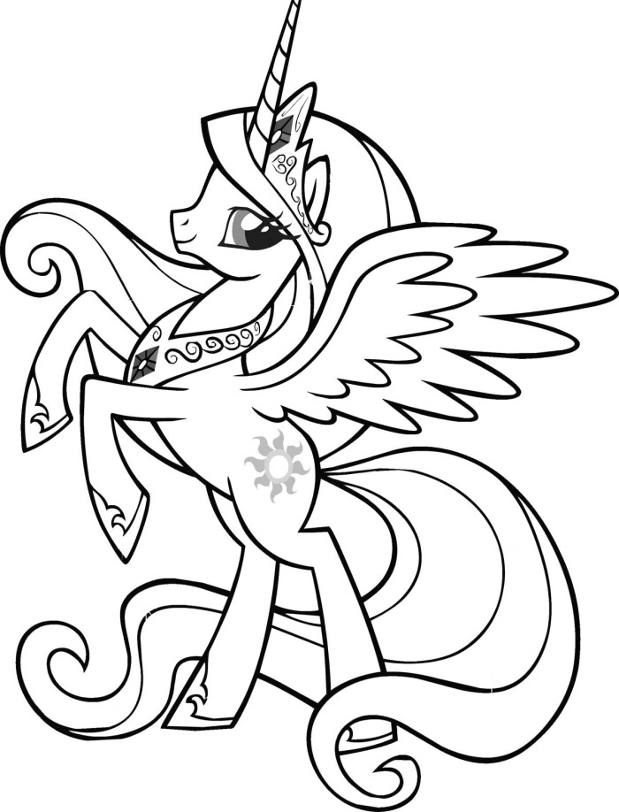 My Little Pony Cartoon Characters - AZ Coloring Pages