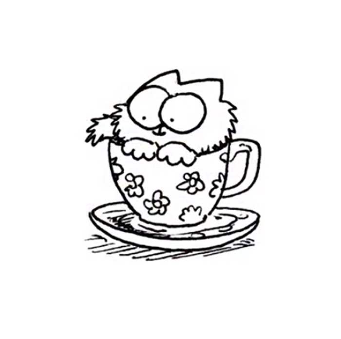 simon cat free coloring pages - photo#35