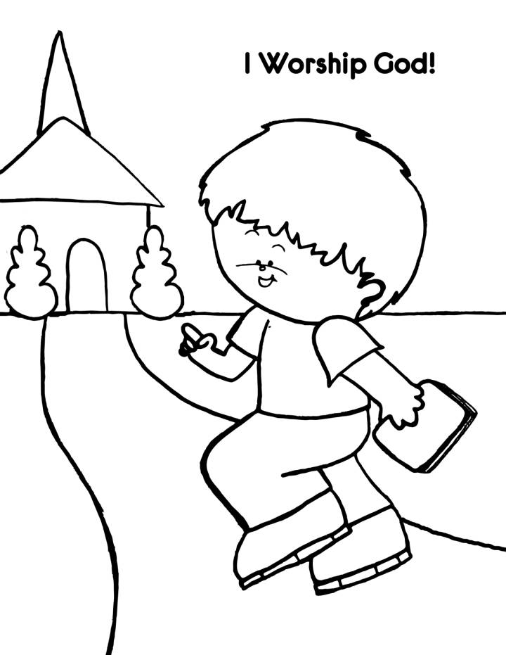 god made coloring pages - photo#13