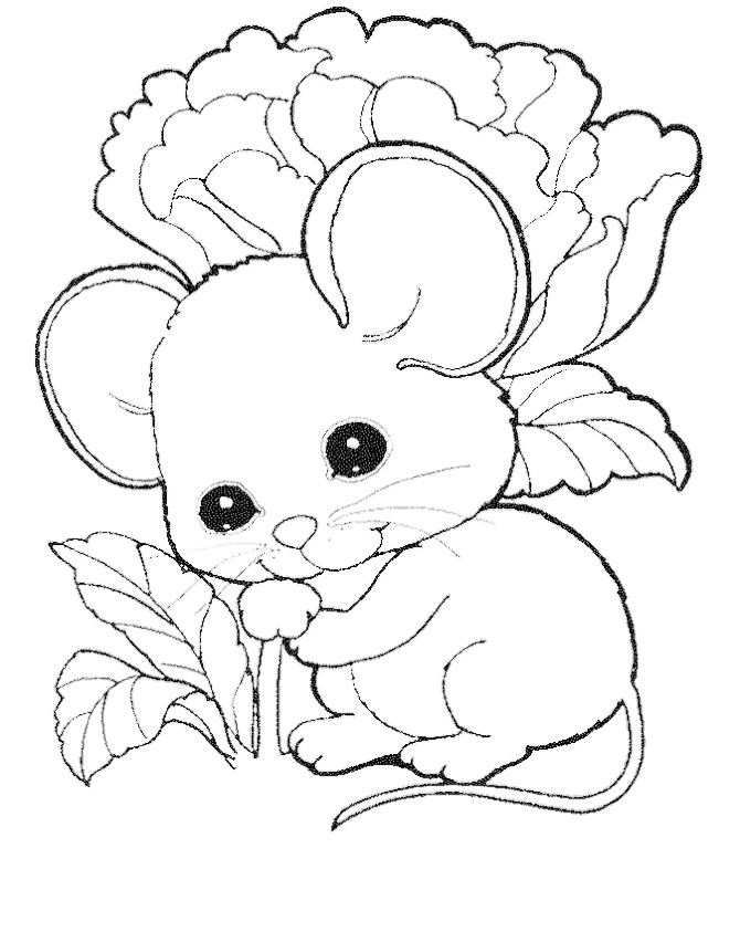 mice printable coloring pages - photo#13