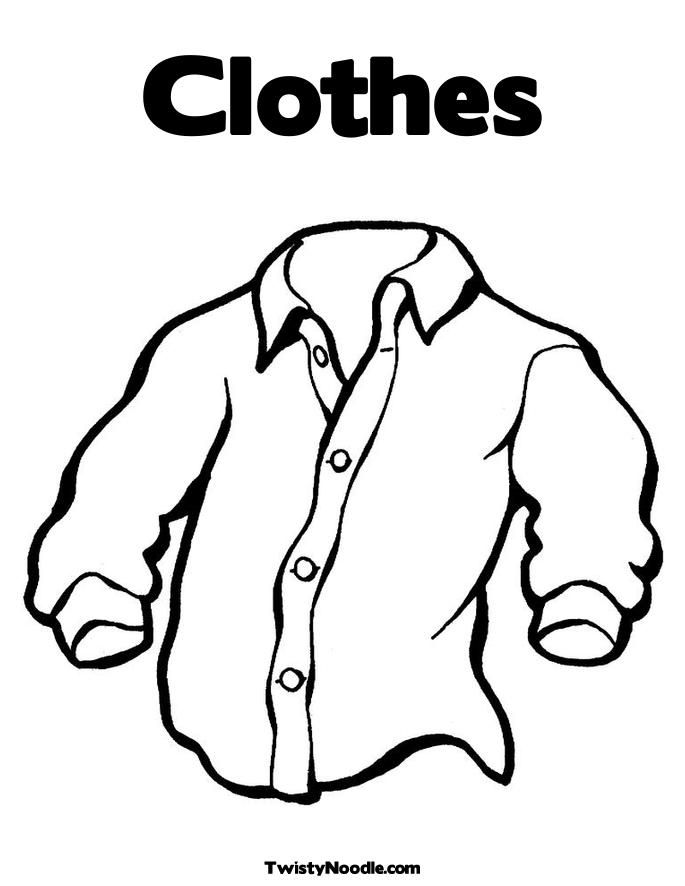shirt coloring pages - photo#33