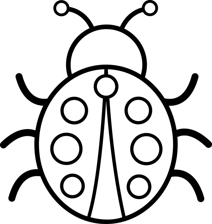 Cute bug pictures az coloring pages for Cute ladybug coloring pages
