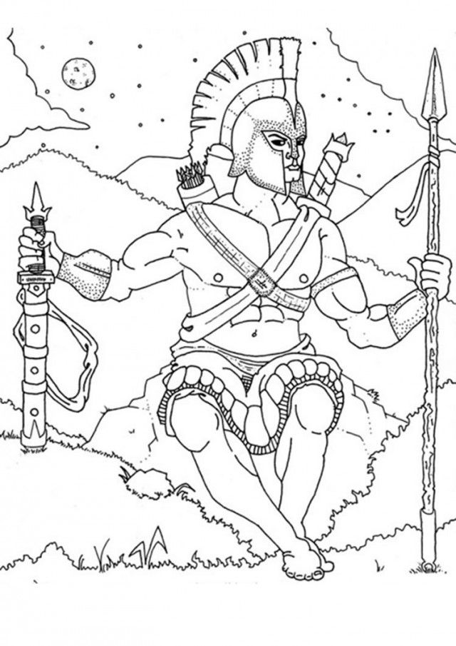 Figure Of Hera The Greek Mythology Matron Goddess Coloring Page