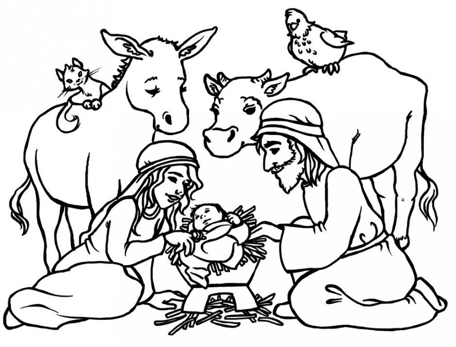 Baby jesus manger coloring page az coloring pages for Baby jesus manger coloring page