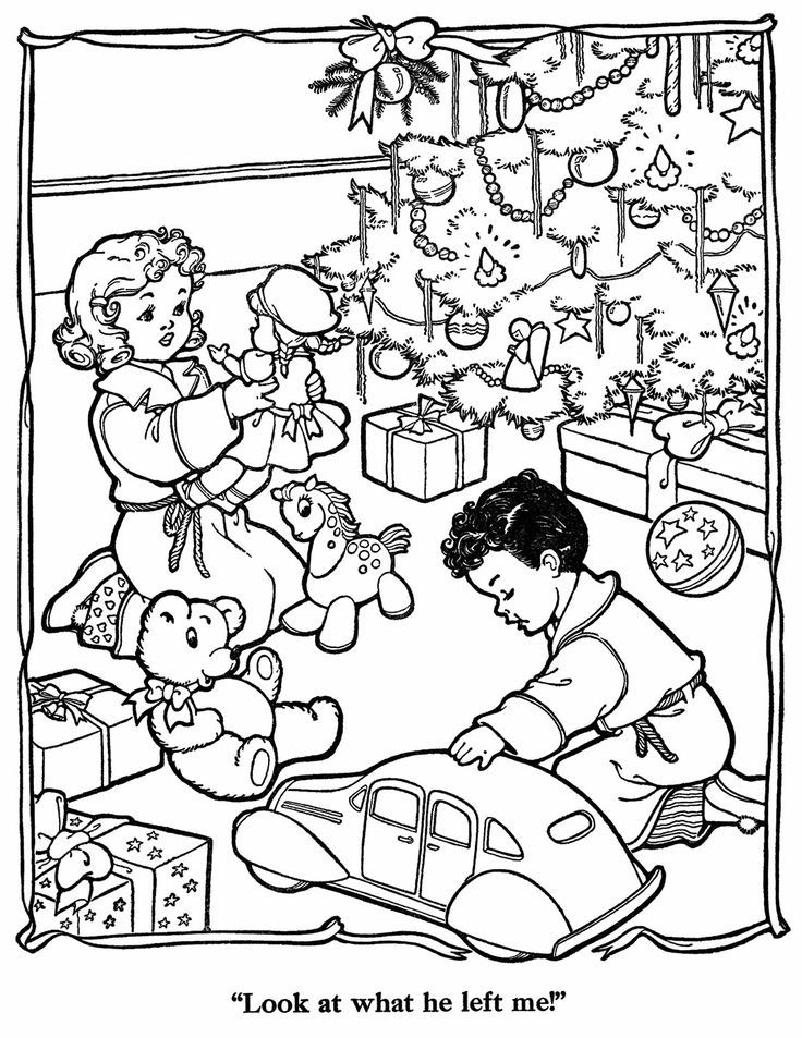 Christmas Pictures To Paint - Coloring Home