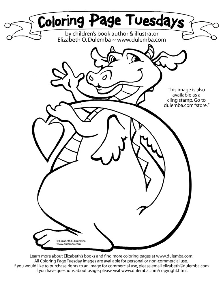 dulemba: Coloring Page Tuesday! - Dragon