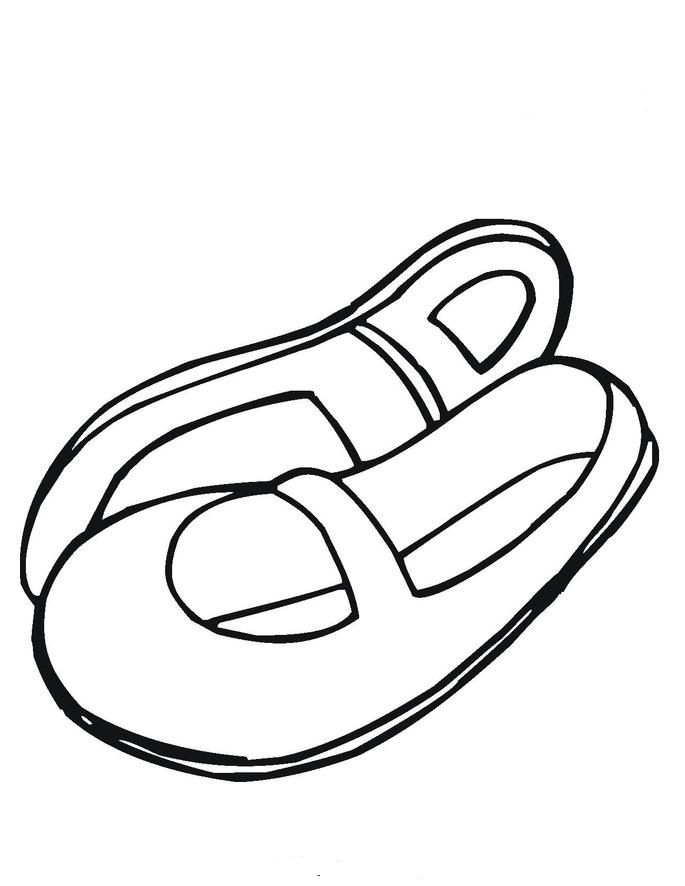 Old Princess Shoes Coloring Page Kids Coloring Page Coloring Home