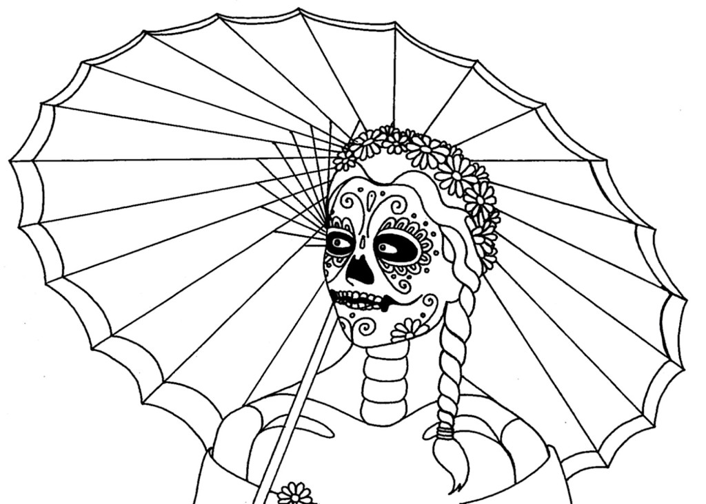 Dia De Los Muertos Coloring Pages Az Coloring Pages Dia De Los Muertos Coloring Pages