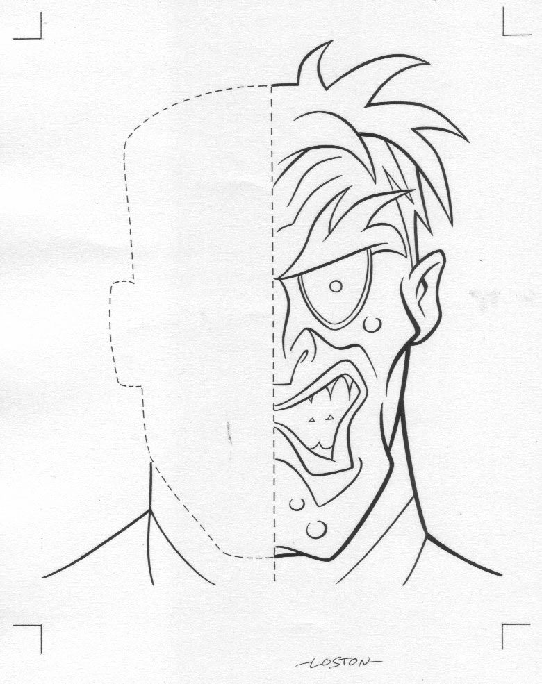 Batman Two Face Coloring Pages Coloring Pages