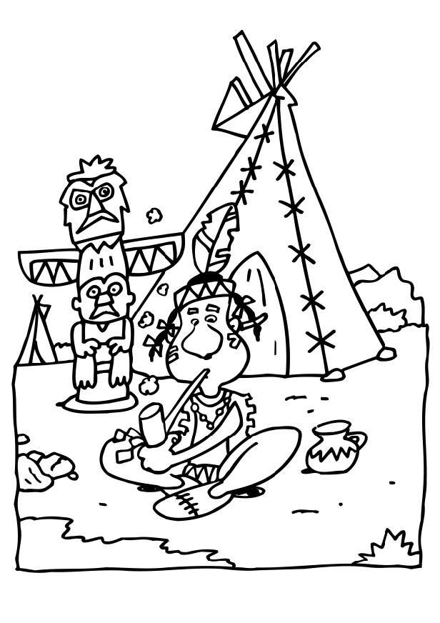 kids teepee coloring pages - photo#28