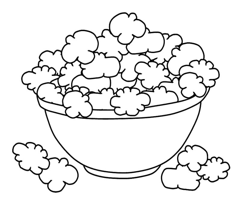 Popcorn Coloring Sheet - AZ Coloring Pages