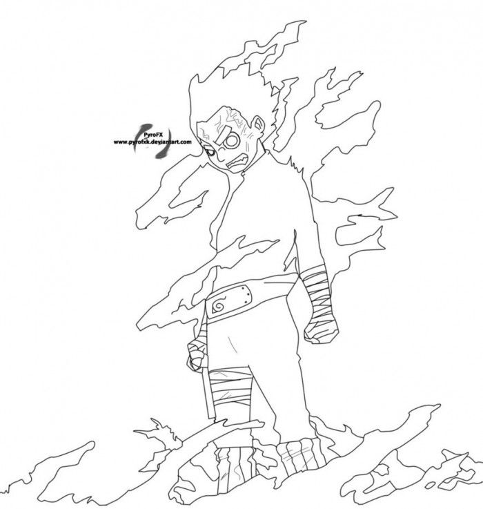 naruto rock lee coloring pages 99coloringcom