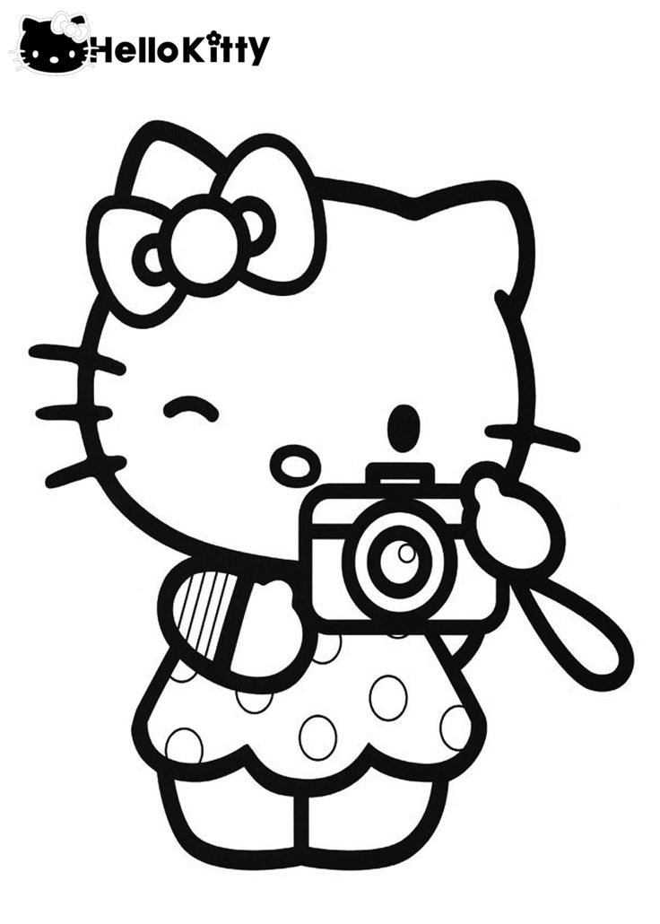 pretty hello kitty coloring pages - photo#9