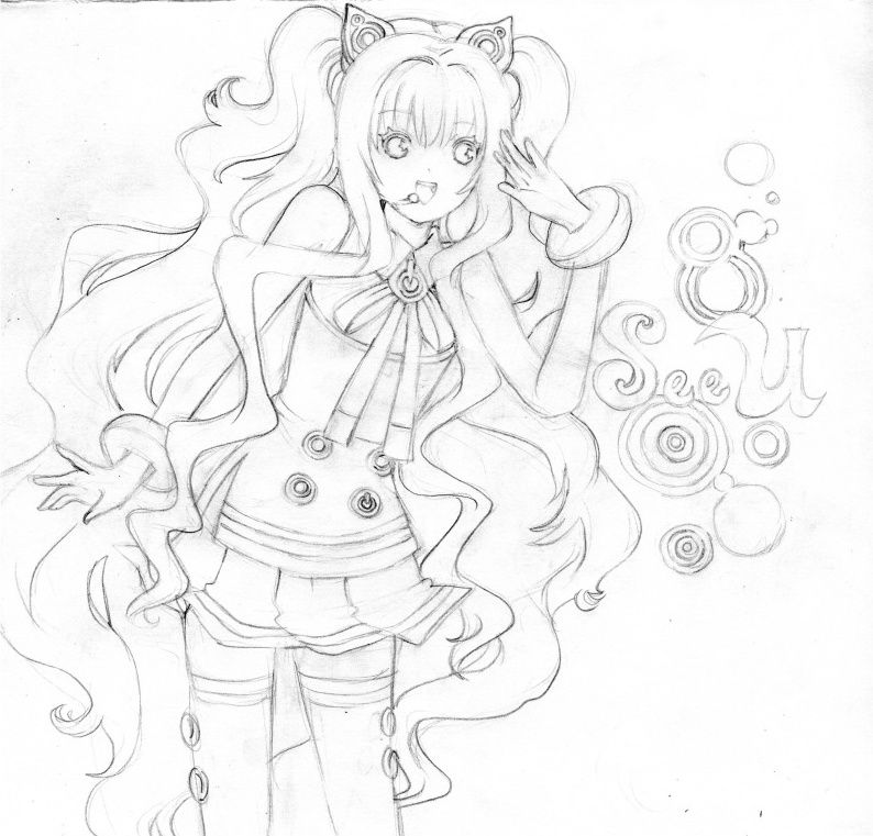 Vocaloid Coloring Pages Coloring Home