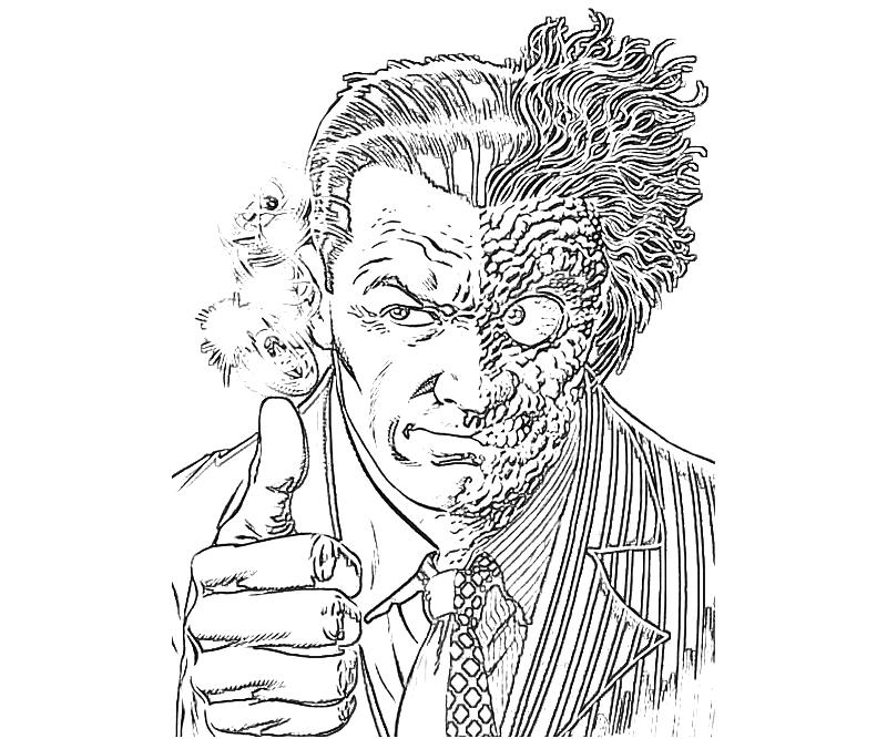 Batman Two Face Coloring Pages Coloring Home