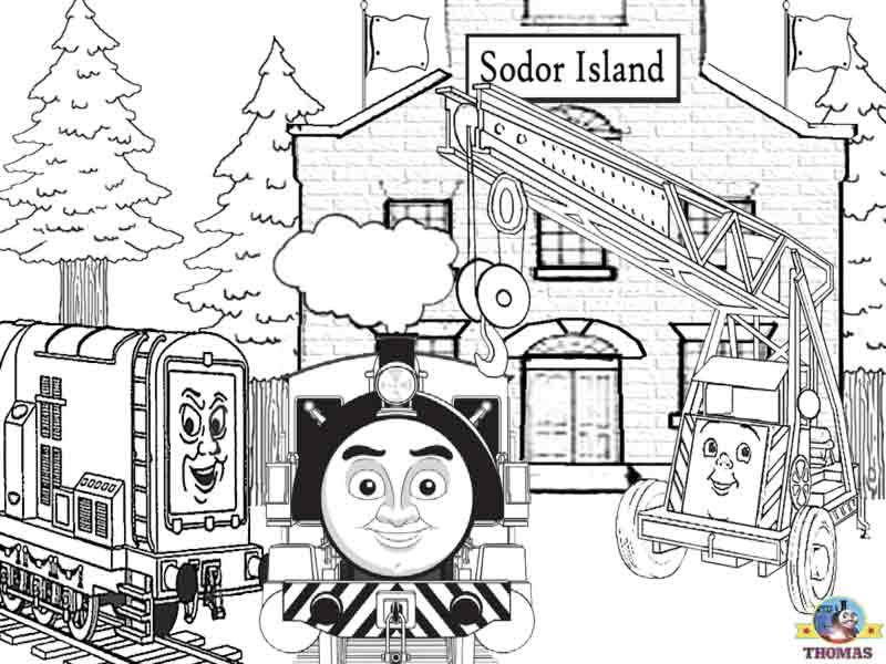 thomas waiting his haul in the station in thomas and friends