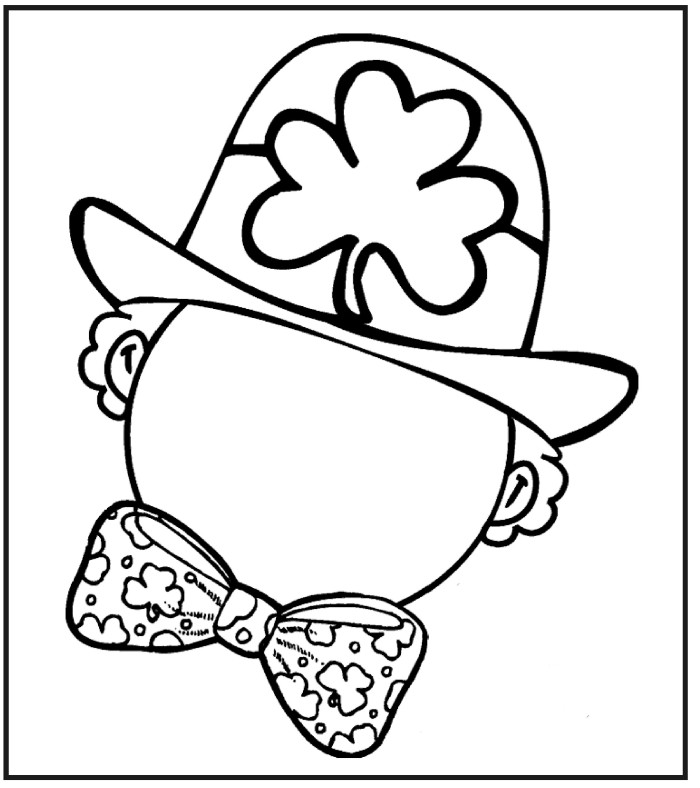 Leprechaun Head Coloring Page Coloring Page st Patricks Day