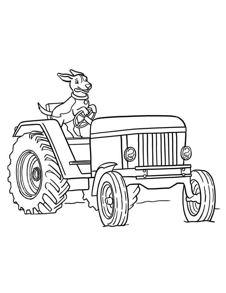 Farm Tractor Coloring Pages Az Coloring Pages Farm Tractor Coloring Pages