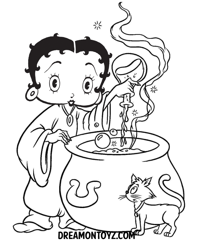 Betty Boop Halloween Coloring Pages Betty Boop Pictures Archive
