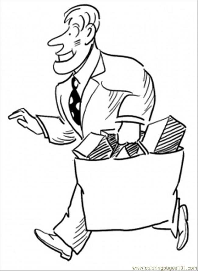 coloring pages shopping - photo#15