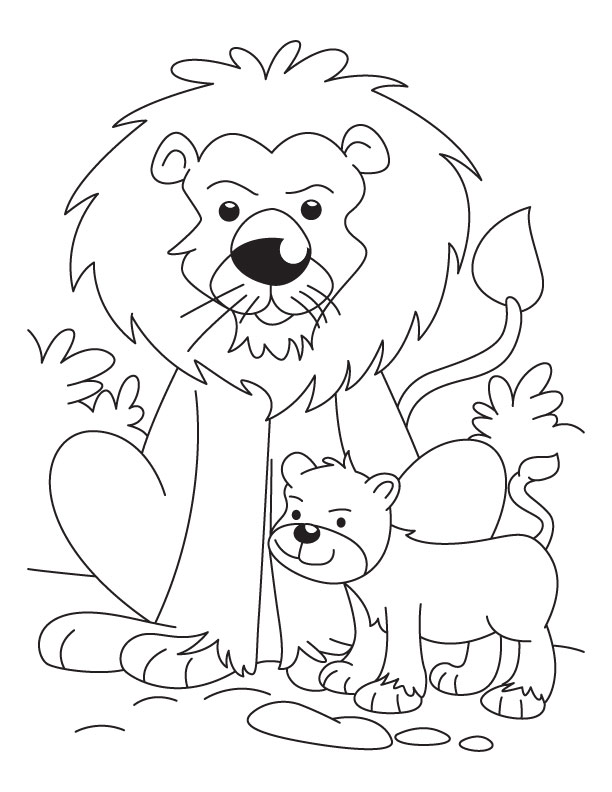 free lion cub coloring pages - photo#3