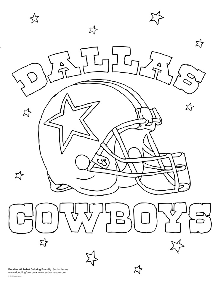 Dallas Cowboys Coloring Pages For Kids Az Coloring Pages Dallas Cowboys Logo Coloring Page Printable