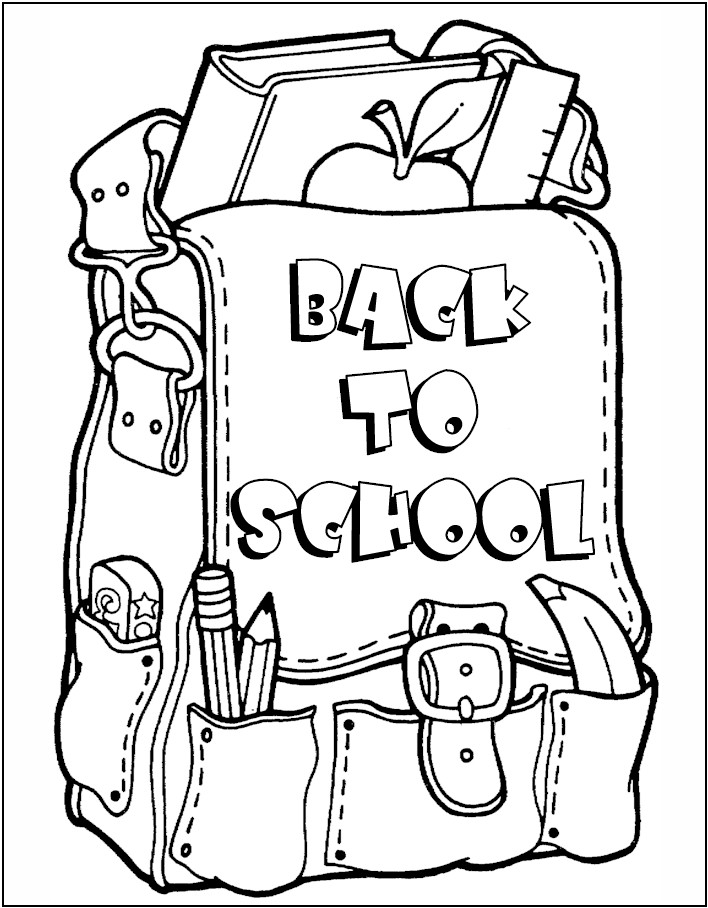 Back To School Printable Coloring Pages Az Coloring Pages Colouring Pages School