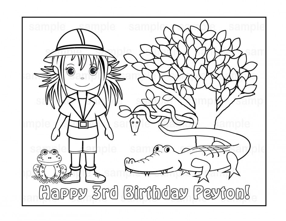 Safari Coloring Page - Coloring Home