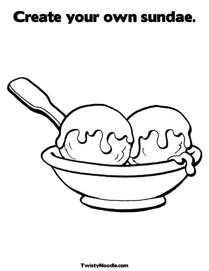 Ice Cream Scoop Coloring Page 134