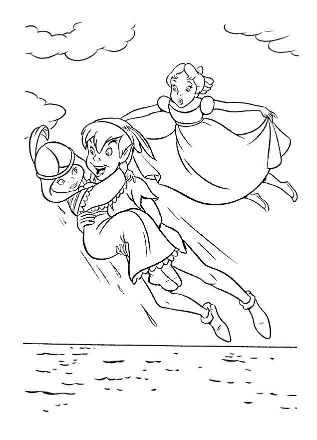 peter and angel Colouring Pages
