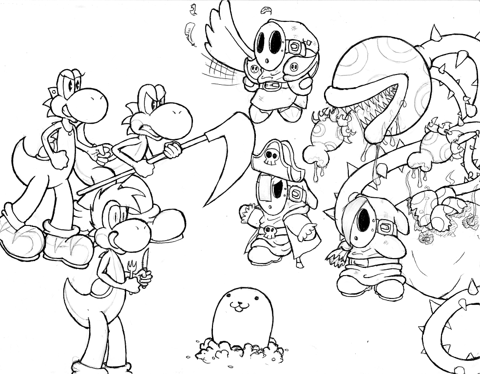 Pics Of Mario Characters Coloring