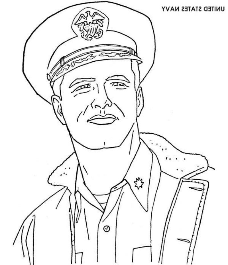 US Navy Sailor On Veterans Day Coloring Page - Kids Colouring Pages ...