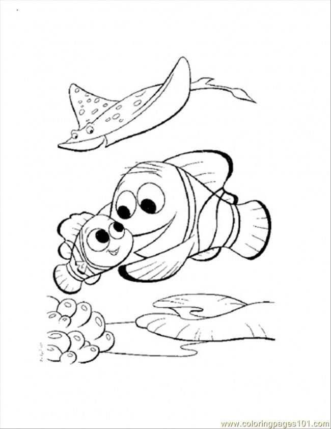 Coloring Pages Nemo And Marlin Return Home (Cartoons > Finding