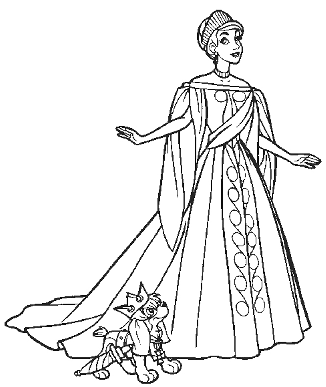 wedding dress coloring pages - photo#24
