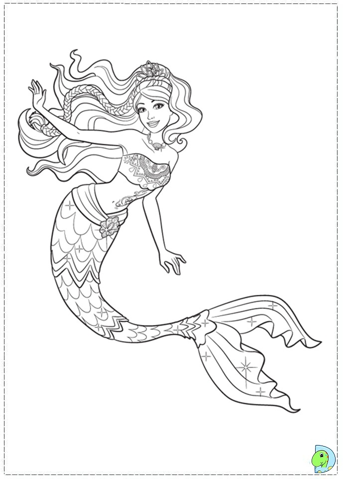 barbie mermaid free coloring pages-#2