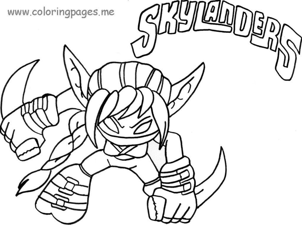 Skylanders Coloring Pages Printable  Coloring Home