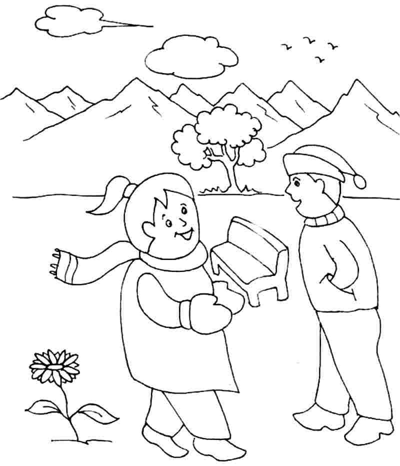 winter coloring pages kindergarten - photo#8