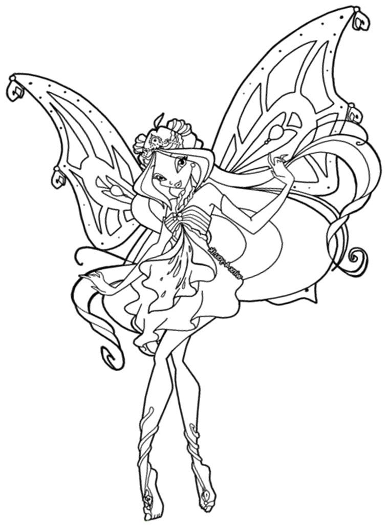 Download A Smiling Beautiful Winx Club Coloring Pages Or Print A