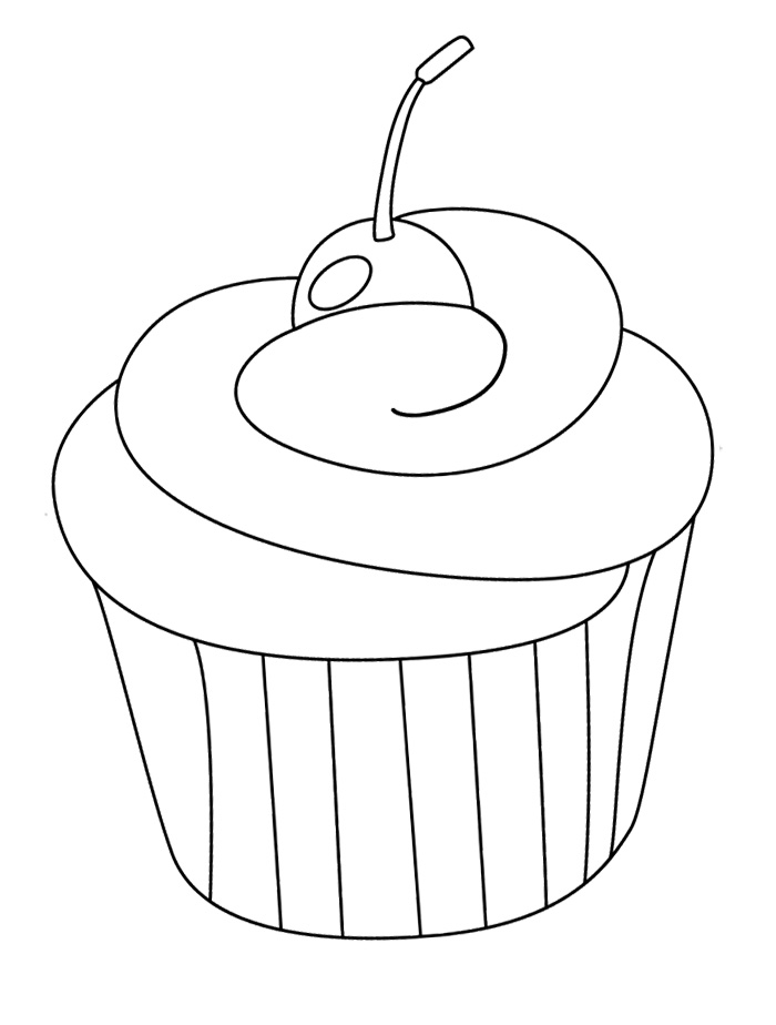 Colouring Images Of Cupcake : Cupcake Coloring Page - AZ Coloring Pages