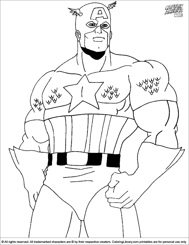 Captain America coloring picture