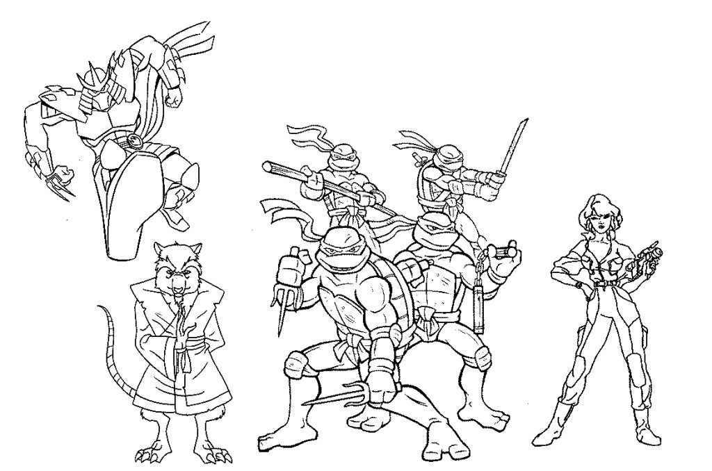 Teenage Mutant Ninja Turtles Coloring Page AZ Pages