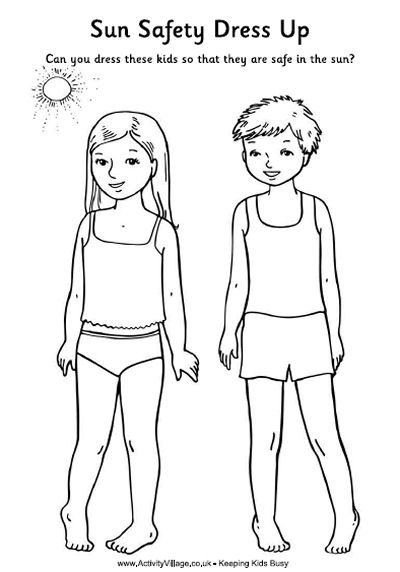 Sun Safety Coloring Pages Coloring Home Sun Safety Coloring Pages