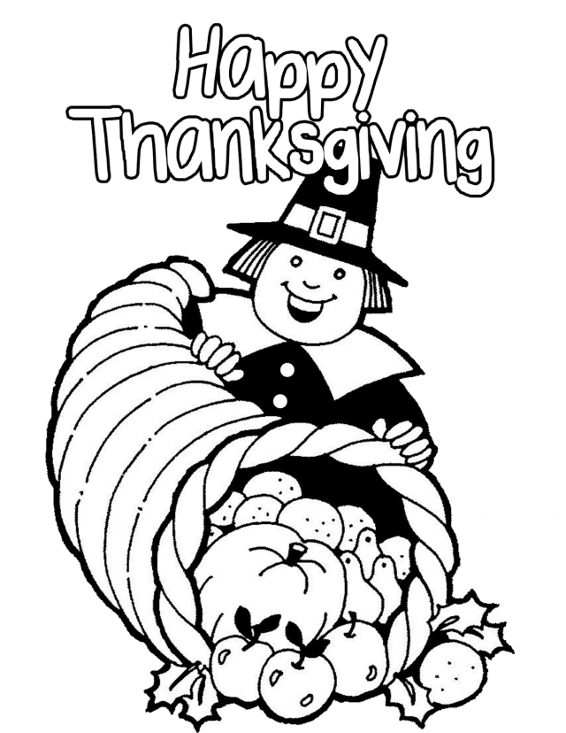 thanksgiving food coloring pages - photo#24